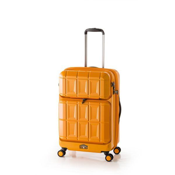 ◇スーツケース 【オレンジ】 拡張式(54L+8L) ダブルフロントオープン アジア・ラゲージ 『PANTHEON』※他の商品と同梱不可