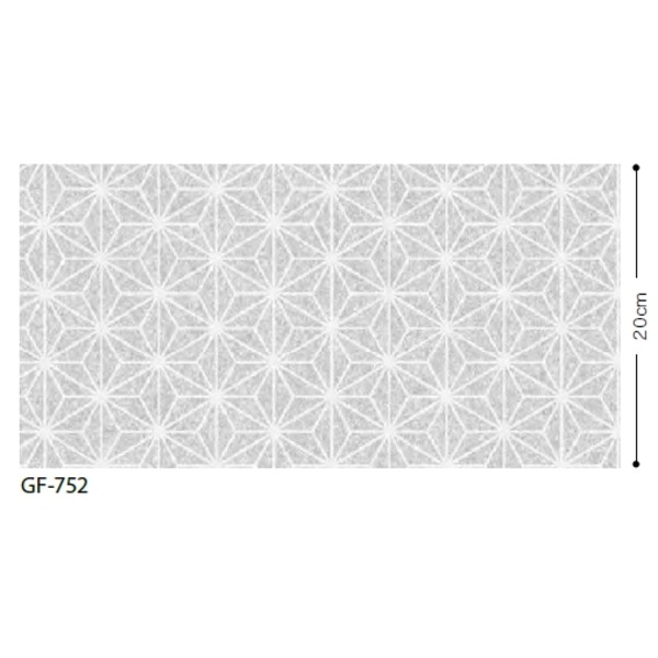 ◇和 麻の葉 飛散防止ガラスフィルム サンゲツ GF-752 92cm巾 10m巻※他の商品と同梱不可
