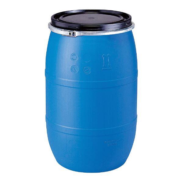 ◇三甲(サンコー) 液体輸送用プラスチックドラム 【オープンタイプ】 PDO 120L-1 UN認定 ブルー(青)【代引不可】※他の商品と同梱不可