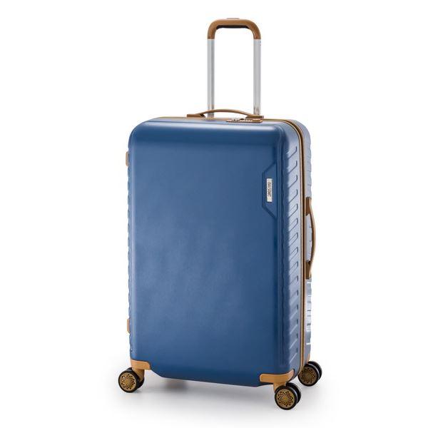 ◇スーツケース/キャリーバッグ 【ターコイズブルー】 90L 手荷物預け無料最大サイズ ダイヤル式 アジア・ラゲージ 『MAX SMART』※他の商品と同梱不可