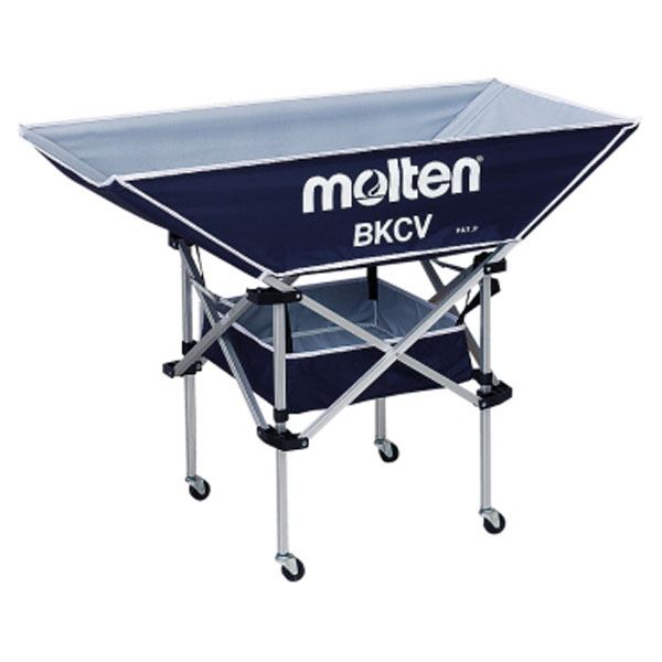 ◇モルテン(Molten) 折りたたみ式平型軽量ボールカゴ(背低) ネイビー BKCVLNV※他の商品と同梱不可