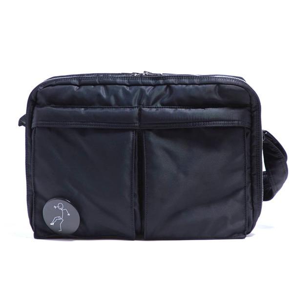 ◇斜めかけにぴったり♪ポケットいっぱいのビジネスバッグ仕様のバッグ/ブラック※他の商品と同梱不可