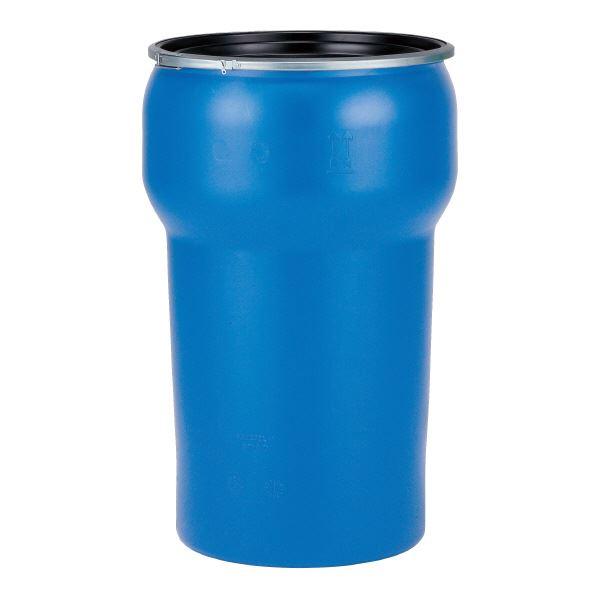 ◇三甲(サンコー) 液体輸送用プラスチックドラム 【オープンタイプ】 PDN 200L-1 ブルー(青)【代引不可】※他の商品と同梱不可