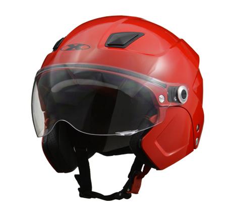 LEAD リード工業 X-AIR ソルダード3段階変化(ハーフ/セミジェット/フルフェイス)ヘルメット+フェイスマスク  レッド