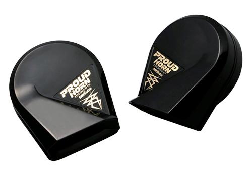 ミツバサンコーワ ホーン プラウドホーン ブラック HOS-02B 最新 訳あり品送料無料 NFR店
