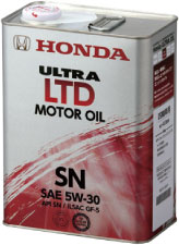 ホンダ オイル ウルトラ LTD SN 4L 5W30 6缶