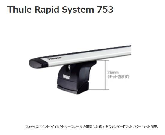Thule スーリー キャリア ベースキャリア RAPIDフィックスポイント 753 【NFR店】
