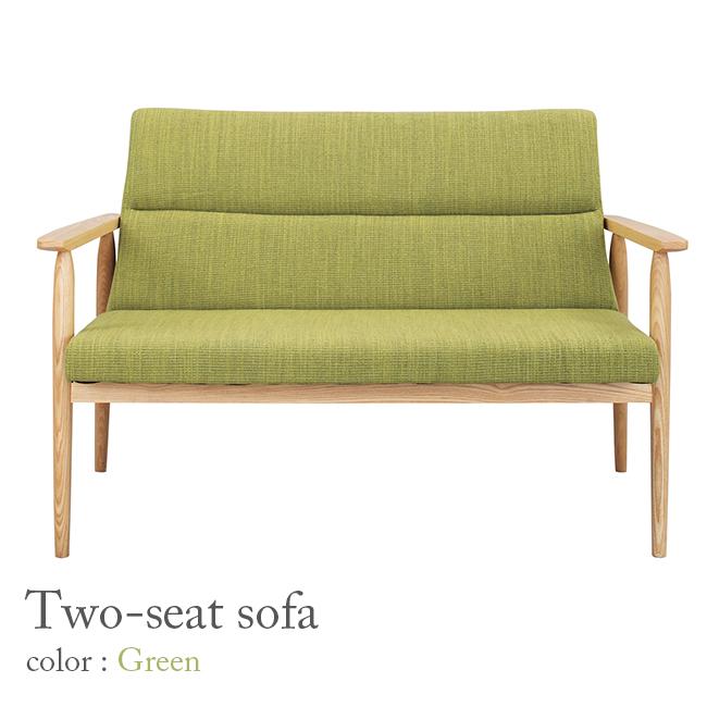 【クーポン配布中※期間限定】【2人掛け】ソファ【全2カラー】グリーン / ベージュ/ソファー Sofa 椅子イス いす チェア ダイニングチェア 二人掛け 2P おしゃれ かわいい シンプル 家具 リビング