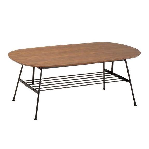 【期間限定クーポン配布中】リビングテーブル/天然木 スチール リビングテーブル アジャスタブルテーブル コーヒーテーブル センターテーブル 可動式 天然木 木製 ひとり暮らし 新生活 北欧 おしゃれ 幅110cm 高さ調節可能