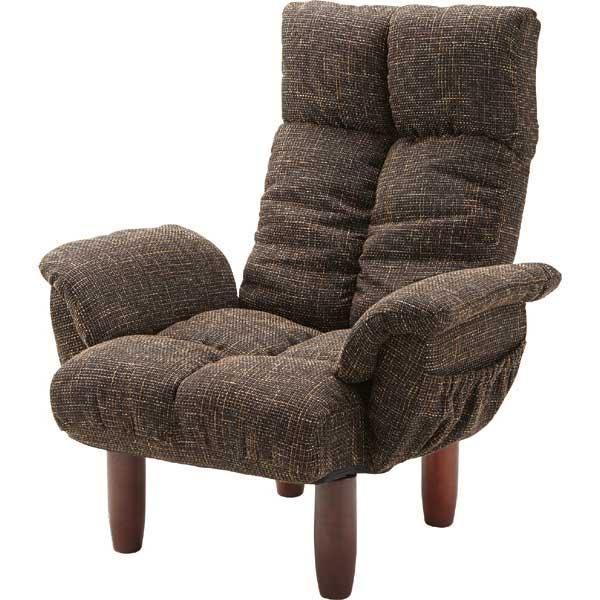 【ポケット付き】【肘掛付き】リクライニングチェア/リクライニングチェア リクライニングチェアー リクライニングソファ リクライニングソファー 高さ調節 一人掛けソファ 一人掛け 椅子 イス いす コンパクト おしゃれ