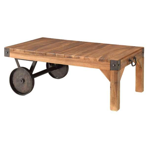 【期間限定クーポン配布中】【天然木】【トロリーテーブル】センターテーブル/おしゃれ センターテーブルおしゃれ リビングテーブルおしゃれ テーブルおしゃれ おしゃれテーブルリビング おしゃれテーブルリビング用 ローテーブルアンティーク