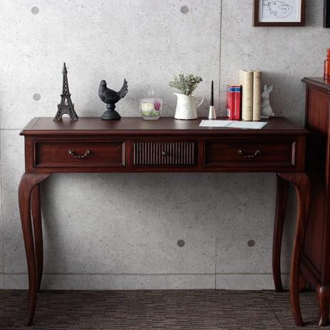 コンソールテーブル/アンティーク調家具 ヴィンテージ 古き良き時代 アンティークデザイン エレガント こだわり おしゃれな猫脚 ラグジュアリー 高級感ゆったり空間 贅沢 コンソール 収納 デスク