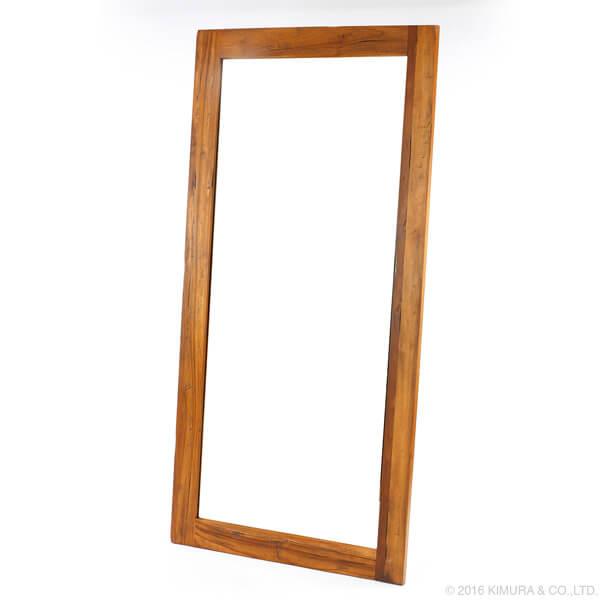 【期間限定クーポン配布中】ウォールミラー【チーク無垢材】/ミラー 全身 全身用 壁掛け 鏡 全身鏡 姿見 全身ミラー 壁掛けミラー 姿見ミラー