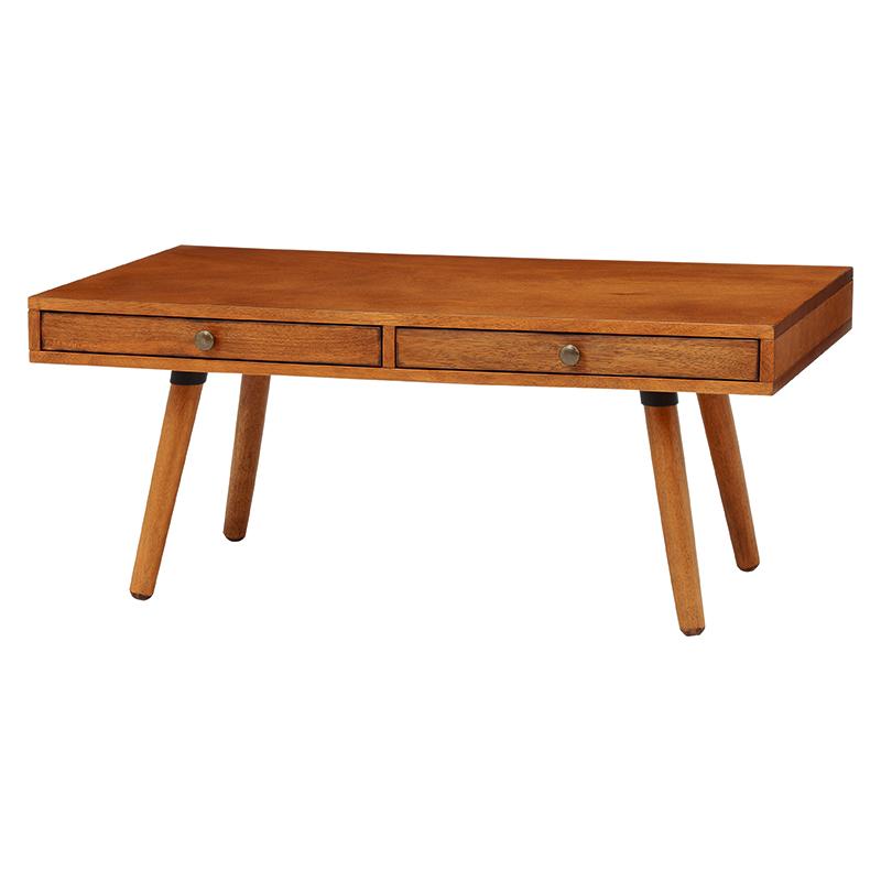 ローテーブル/ヴィンテージテイスト かっこいい モダン おしゃれ カフェ風 かわいい ヴィンテージ風 ウッディ ワイルド