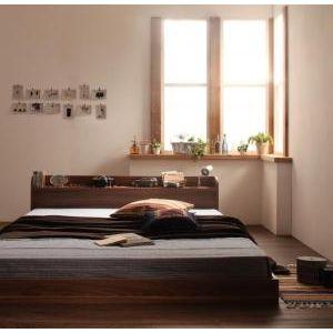 スタンダードボンネルコイルマットレス付きベッド【セミダブル】/ベッド 棚 ナチュラル レトロ 落ち着いた雰囲気 ナチュラル素材 ゆっくり眠れる 北欧 北欧風 ヴィンテージ風 北欧ヴィンテージ カフェ風
