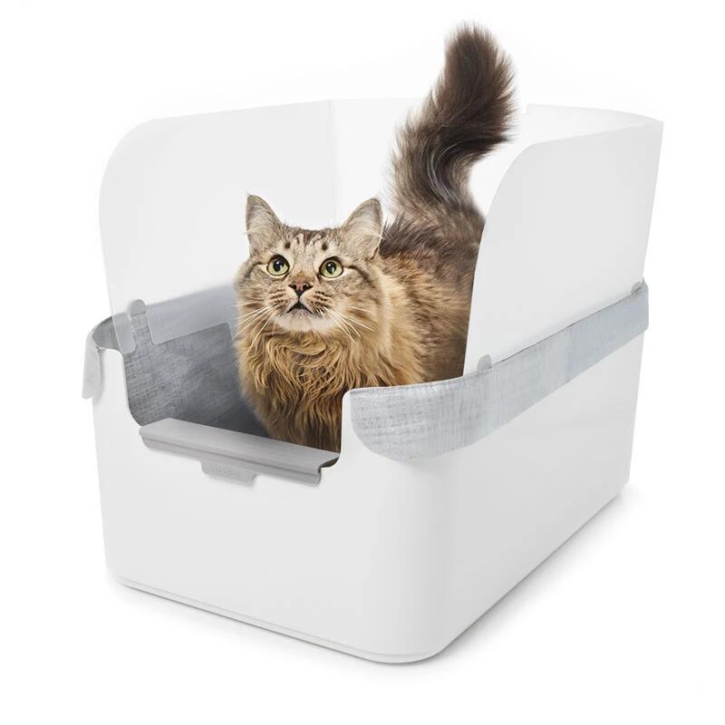 【クーポン配布中※期間限定】 モデキャットリタートレイ /猫用 キャット用品 愛猫 猫砂 飛び散り防止 清潔 猫が喜ぶ 持ち運びできる キャット用トイレ 猫用トイレ