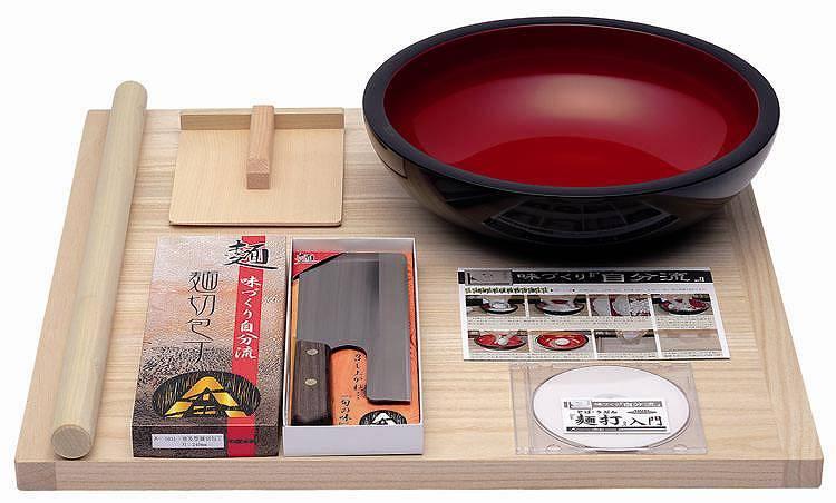 【送料無料】豊稔企販/豊稔 普及型麺打セット(そば、うどん「麺打入門」DVD付き)A-1200