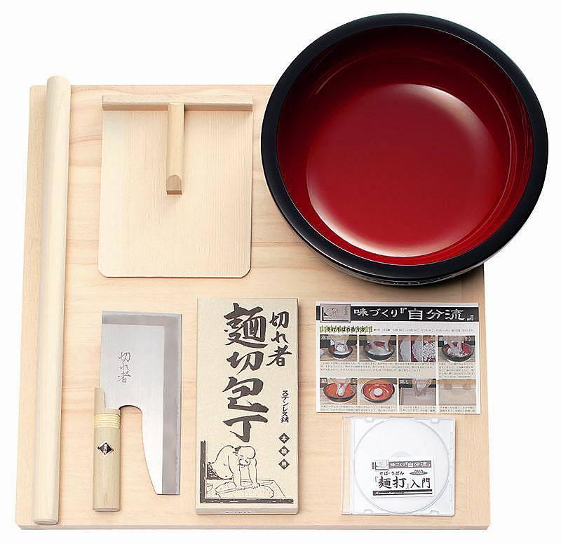 【送料無料】豊稔企販/豊稔 麺打セット(そば、うどん「麺打入門」DVD付き)A-1015