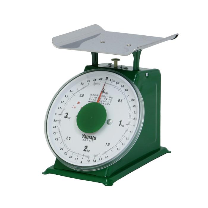 大和製衡/YAMATO 業務用 中型上皿はかり(秤) 検定品 4kg SM-4(目量20g)【送料無料(沖縄県除く)】