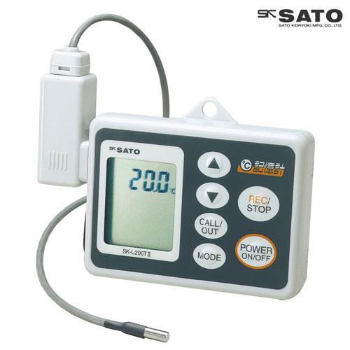 佐藤計量器/SATO データロガー記憶計 本体、コード付分離型センサ(温度タイプ)セット SK-L200T II【送料無料(沖縄県除く)】