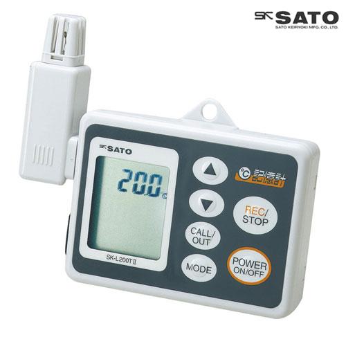 佐藤計量器/SATO データロガー記憶計 本体(8161-00)、一体型センサ一(8162-00) (温度タイプ)一体型セット SK-L200T II