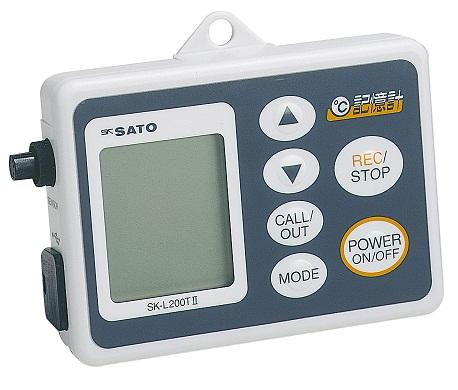 佐藤計量器/SATO データロガー記憶計 記憶計本体のみ(温度タイプ、乾電池・ACアダプタ両電源方式) SK-L200TII D