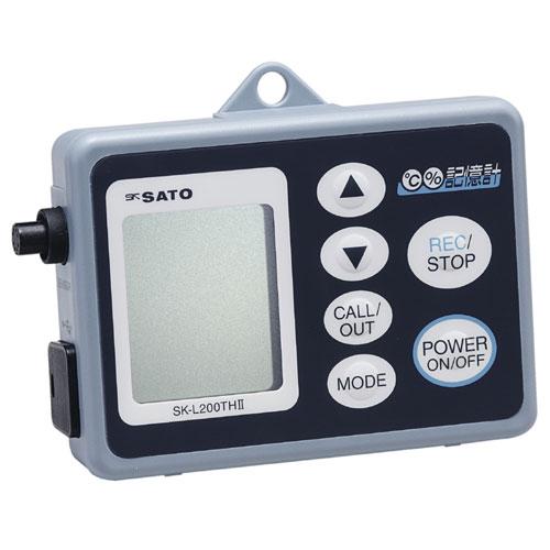 佐藤計量器/SATO データロガー記憶計 記憶計本体のみ(温度タイプ、乾電池・ACアダプタ両電源方式) SK-L200TII D【送料無料(沖縄県除く)】