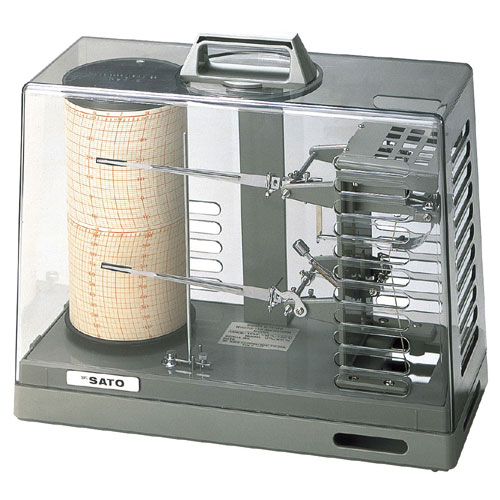 佐藤計量器/SATO シグマII型温湿度記録計 手巻き式(モデル NSII-S)【送料無料(沖縄県除く)】
