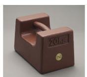 送料無料 正規激安 鋳鉄製 枕型分銅 入手困難 M1級 2級 1kg M1RF-1K 適合 新光電子