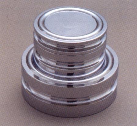 【送料無料】新光電子 黄銅クロムメッキ 円盤分銅(M2級(3級)適合) 2kg
