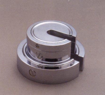 【送料無料】新光電子 黄銅クロムメッキ 増おもり型分銅(M2級(3級)適合) 2kg