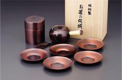 【送料無料】アサヒ 食楽工房 急須・茶筒・茶托セット CB524