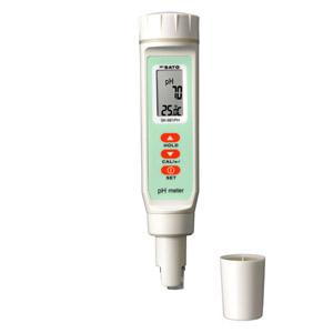 佐藤計量器/SATO ペーハー測定器pH計 pH測定器 水質測定器 土壌測定器 防水 自動温度補正 ペンタイプpH計 SK-661PH(pH値・温度表示)