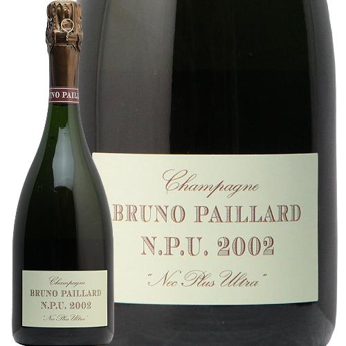 ブルーノ パイアール ネック プリュ ウルトラ エクストラ ブリュット 2002 Bruno paillard N.P.U. Nec Plus Ultra Extra Brut シャンパン フランス シャンパーニュ パイヤール