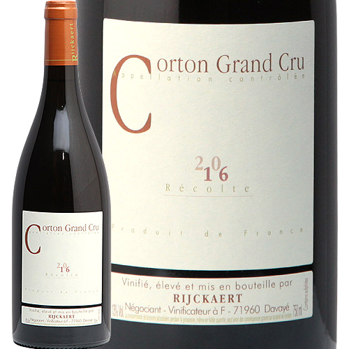 コルトン ブラン グランクリュ 2016 ジャン リケール Corton Grand Cru Blanc Maison Rijckaert 白ワイン ブルゴーニュ やや辛口 ミレジム