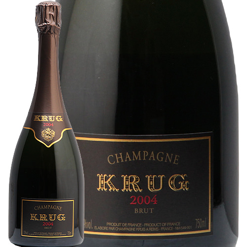 クリュッグ ヴィンテージ 2004 ギフトボックス入り Krug Vintage Champagne シャンパン シャンパーニュ ミレジメ やや辛口 化粧箱 プレステージ 泡
