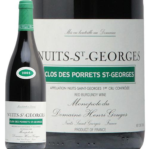 ニュイ サン ジョルジュ 1級 クロ デ ポレ サン ジョルジュ 2005 アンリ グージュ Nuits St Georges 1er Clos des Porrets St Georges Henri Gouges 赤ワイン フランス ブルゴーニュ プルミエ フィラディス 1er PC