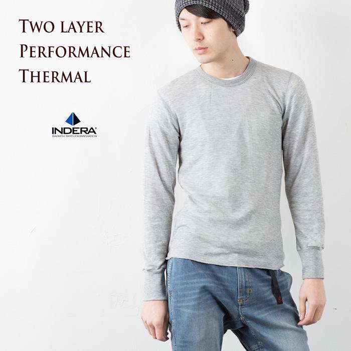 インデラミルズ サーマル 米国老舗メーカーのふわふわウール混サーマル INDERA MILLS 2レイヤー パフォーマンス 返品交換不可 引出物 PERFORMANCE LAYER Tシャツ ロングスリーブ ヘビーウエイトTWO 975LS THERMALS