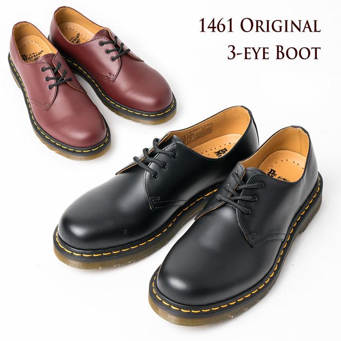 ドクターマーチン 3ホール 1461 ブーツ Dr.Martens 3-EYE BOOT 3-EYE SHOE 3ホールシューズ1461(普通幅) 1461W(レディース幅狭) シューズ 【送料無料】