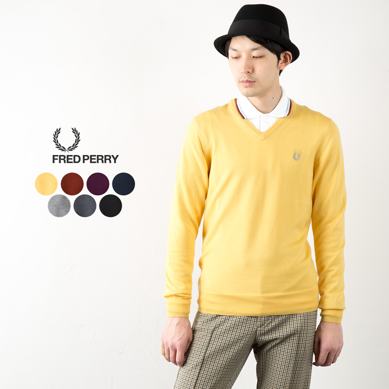 【10%OFF】フレッドペリー セーター クラシック Vネック セーター K4500/K7210