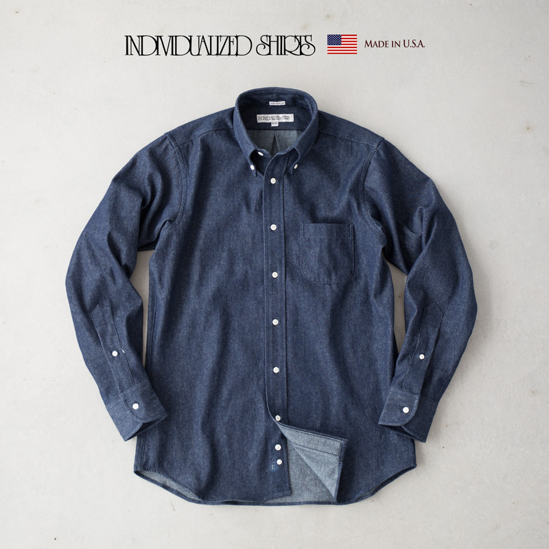 インディビジュアライズドシャツ ビンテージ デニム ボタンダウンシャツ Q07NBO-K スタンダードフィット