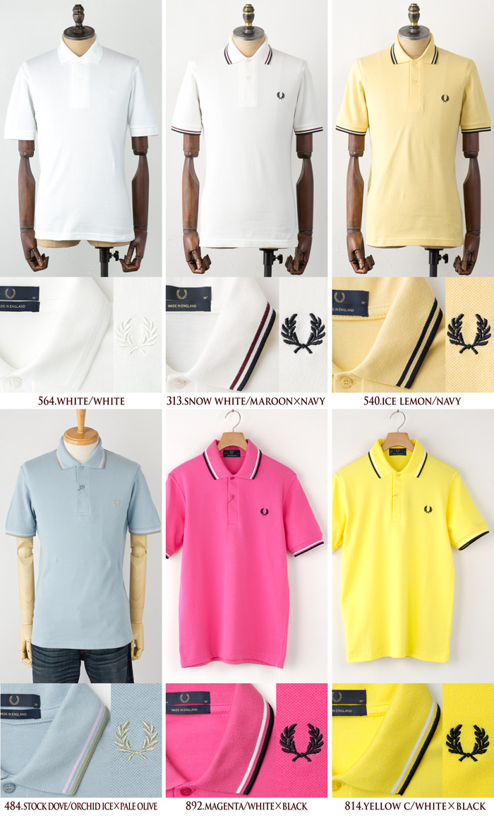 United Kingdom-made line polo shirt M12 THE FRED PERRY SHIRT M12N mens Polo