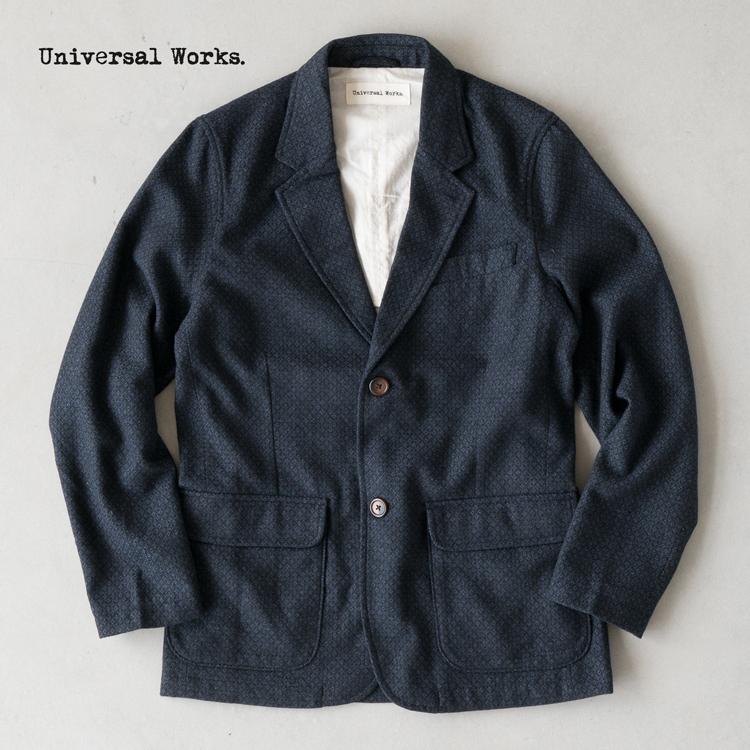 ユニバーサルワークス ツーボタン ジャケット ウール ダイヤモンド 17193 UNIVERSAL WORKS TWO BUTTON JACKET メンズ テーラードジャケット