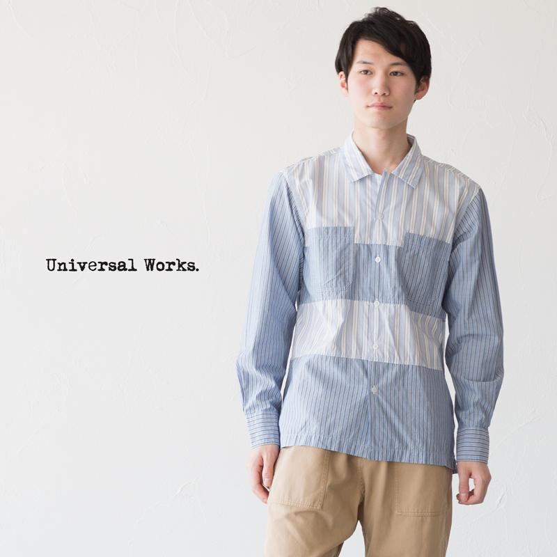 ユニバーサルワークス パネルシャツ 20658 長袖 キャンプカラー 開襟シャツ
