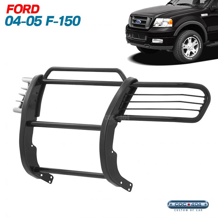 04-05 フォード F-150 グリルガード/バンパーガード ブラック ford
