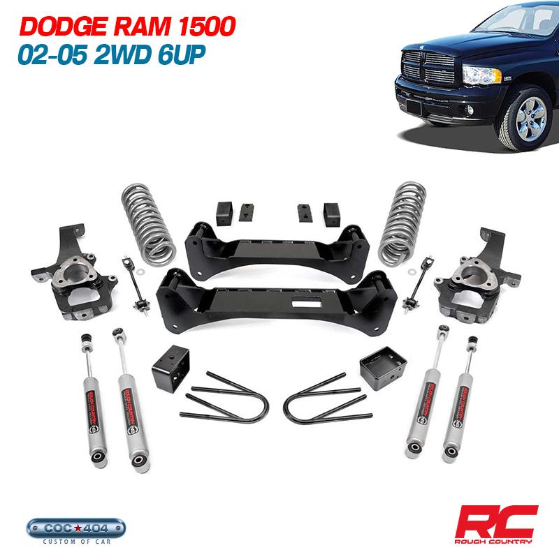 《Rough Country》02-05 ダッジラム 1500 2WD 6インチ リフトアップキット dodge ram