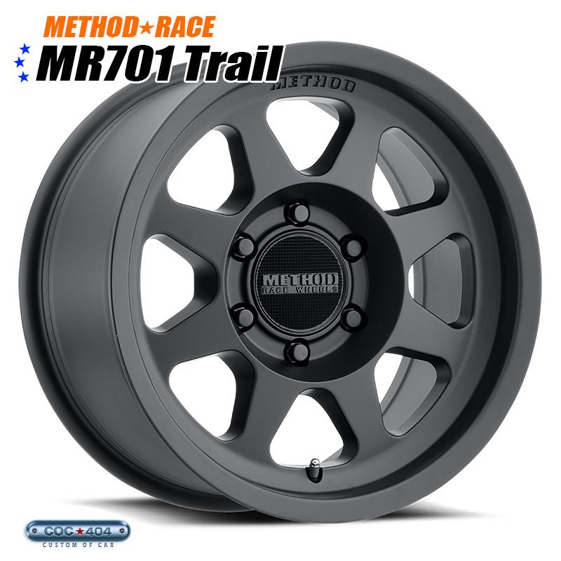 【16インチ】Method Race MR701 マットブラック 1本 ビートグリップ採用!