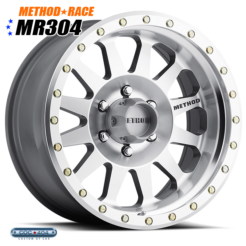 【17インチ】Method Race MR304 Double Standard Machined(マシーンドシルバー)1本