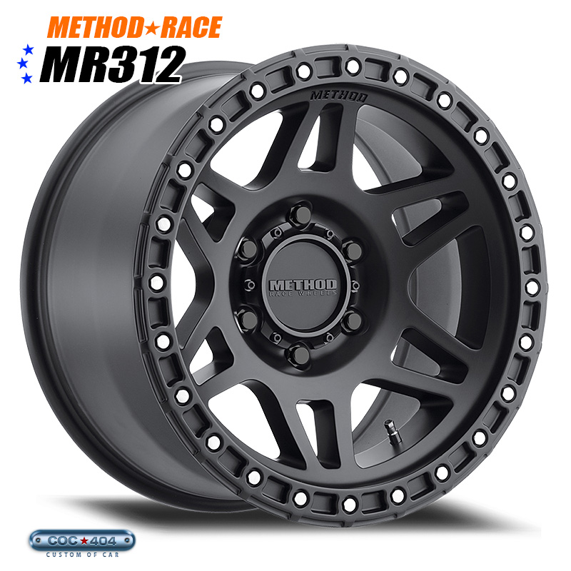 【17インチ 9J】Method Race MR312 マットブラック 1本
