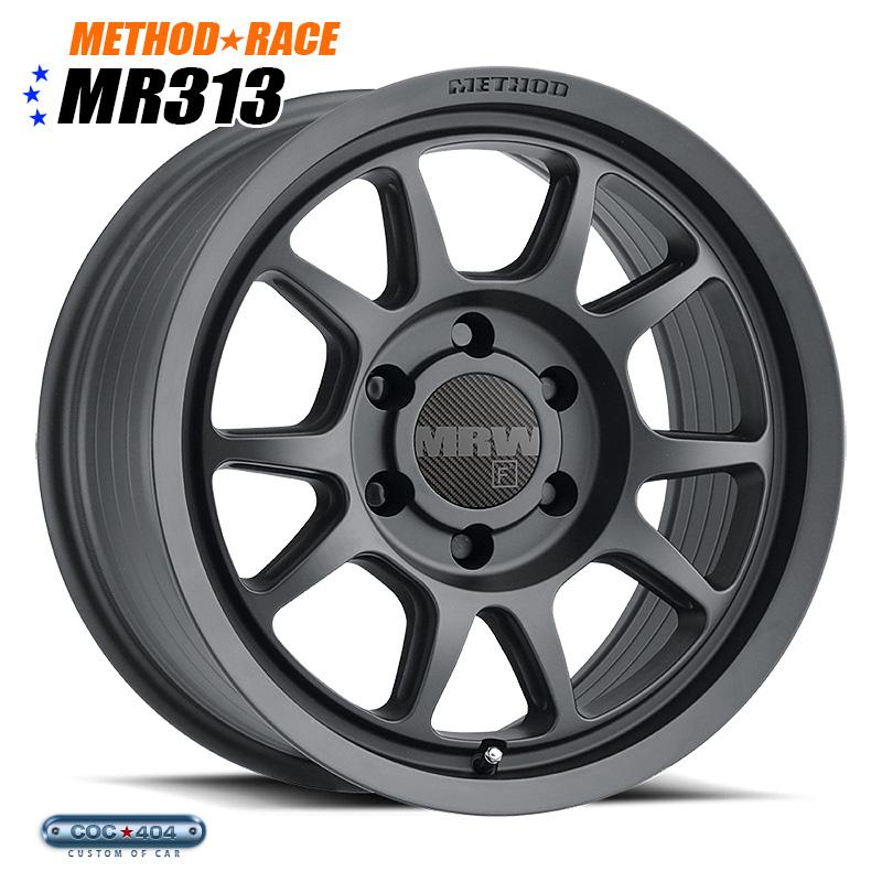 【17インチ 8.5J】Method Race MR313 マットブラック 1本